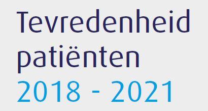 Revalis Factsheet patienttevredenheid 2018-2021